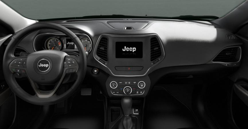 Jeep CHEROKEE LONGITUDE 4X4 2.4L AT CUERO PERFORADO NEGRO Interior 1