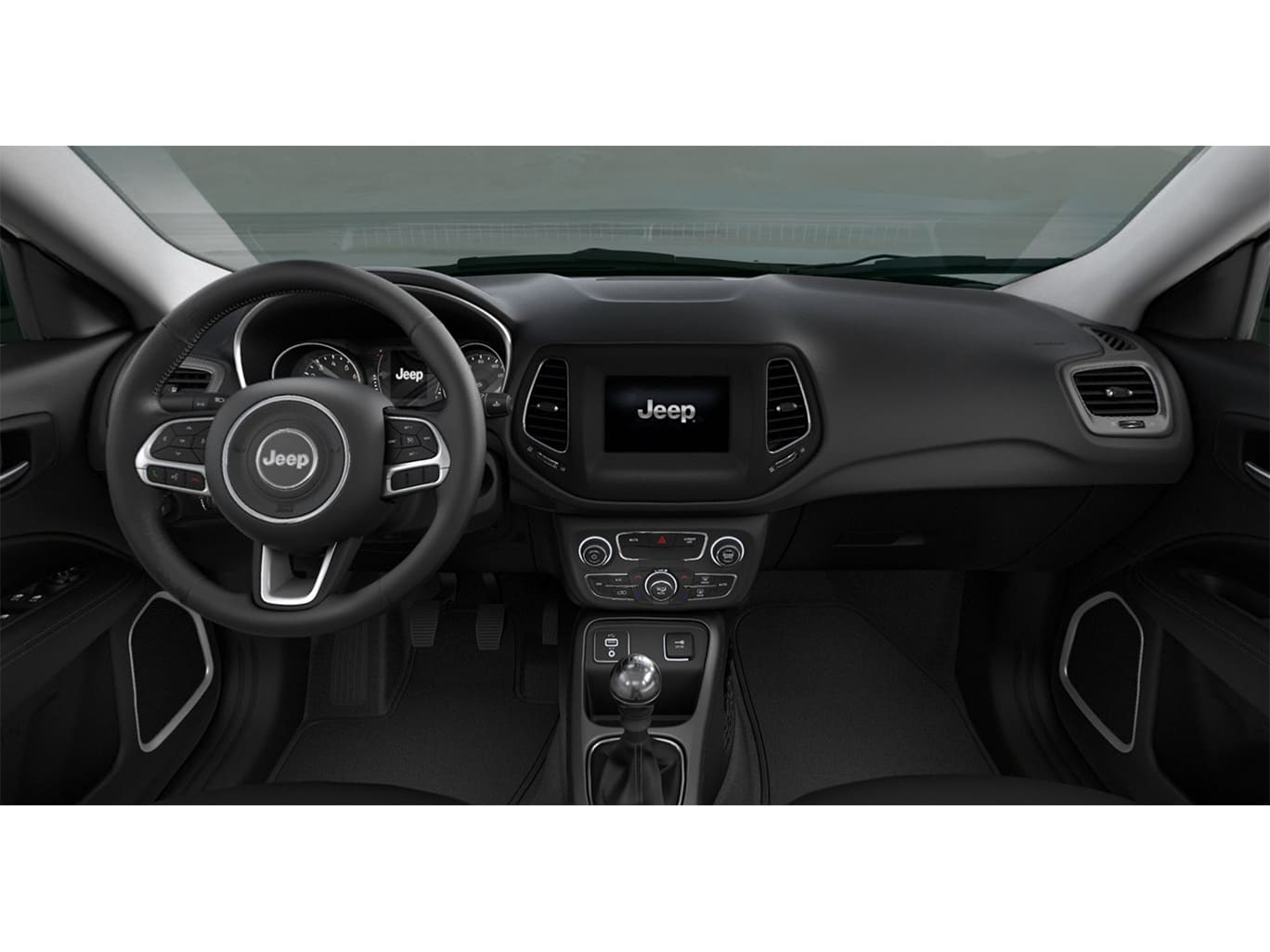 Jeep COMPASS SPORT 4X2 2.4L MT NEGRO Interior 1