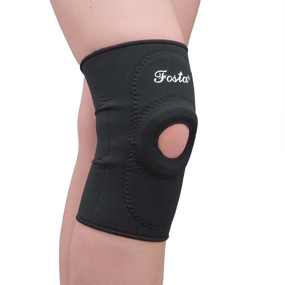 Неопреновый фиксатор коленного сустава с кольцевидной вставкой, фиксирующей надколенник FS1259