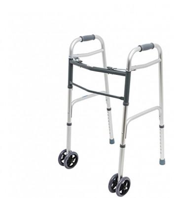 Ходунки Quick XXL повышенной грузоподъемности с двойными передними колесами и с двумя замками фиксации, до 225кг