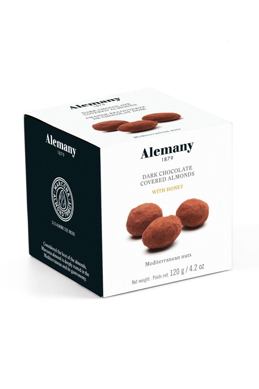 Dark Chocolate Covered Almonds with Honey