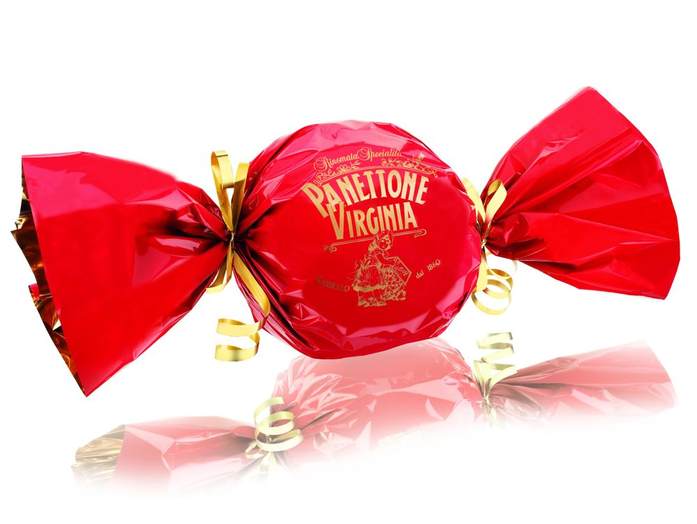 Traditional Panettone with Red Wrap