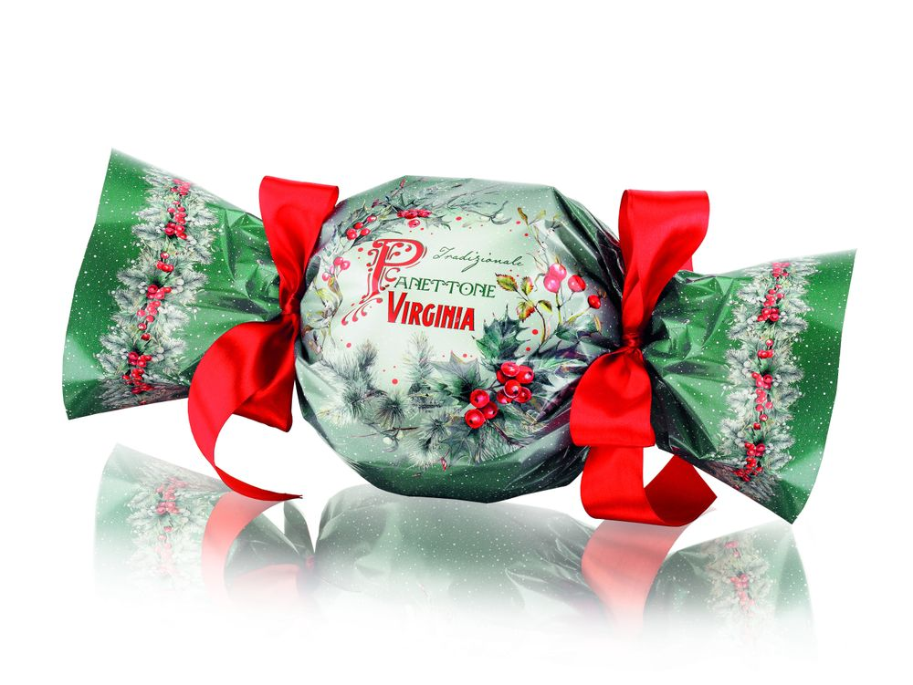 Traditional Panettone with Holly Wrap