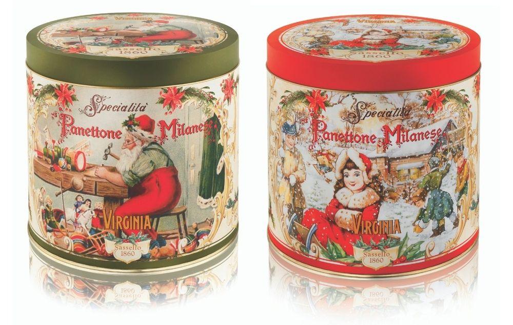 Traditional Panettone - Santa & Virginia Girl Tins