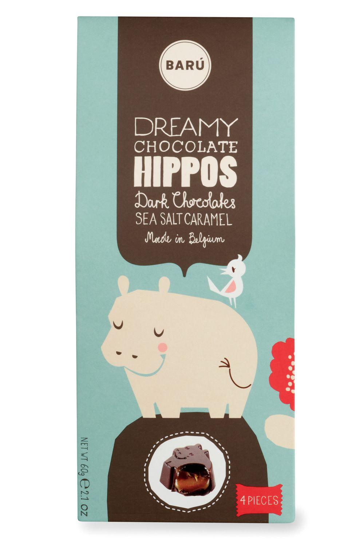 Fleur de Sel Chocolate Hippos