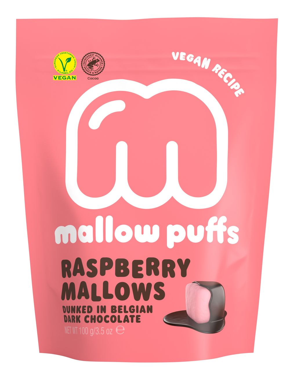 Mallow Puffs - Raspberry & Dark Chocolate