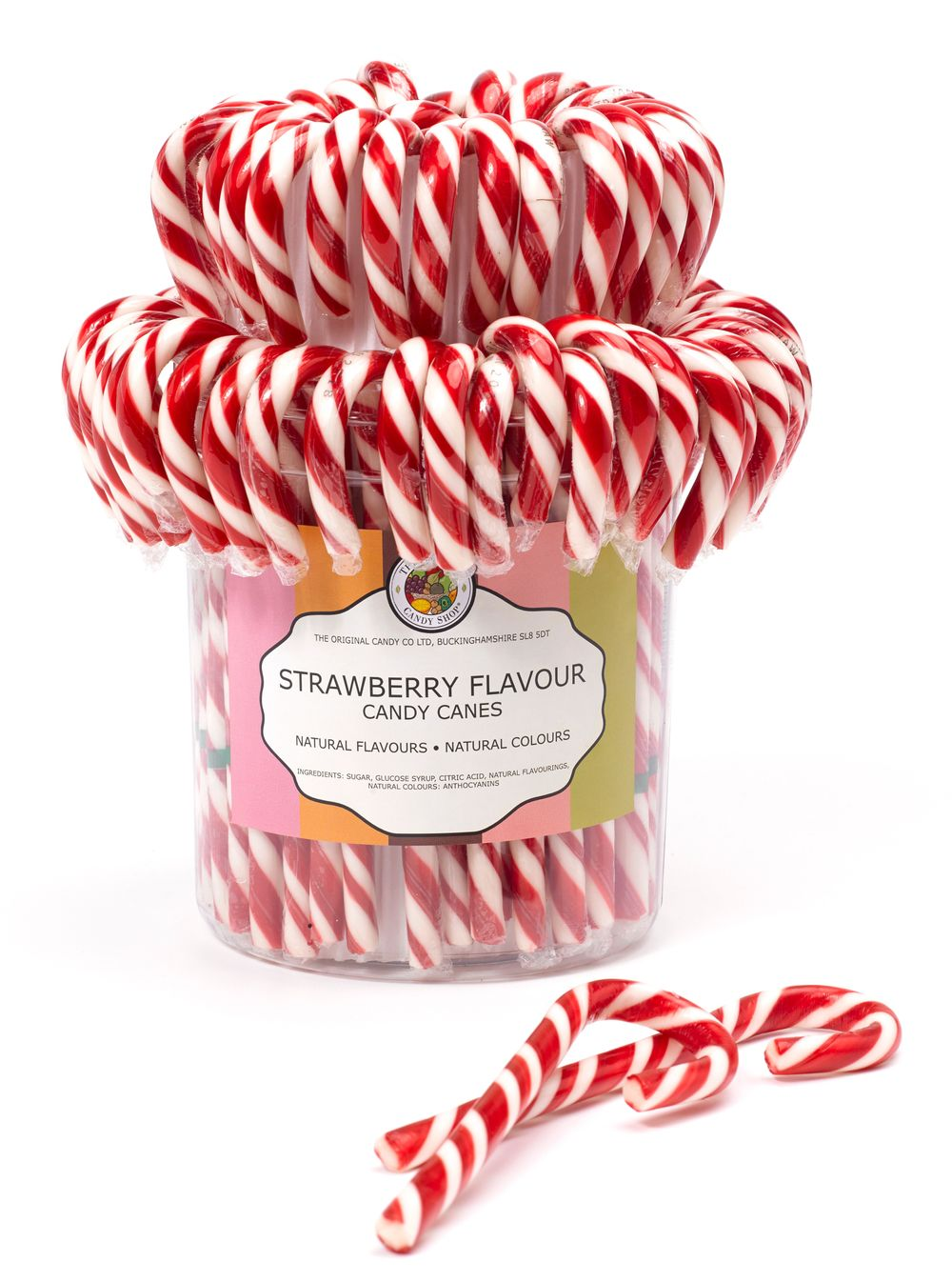 Strawberry Candy Canes in Drum