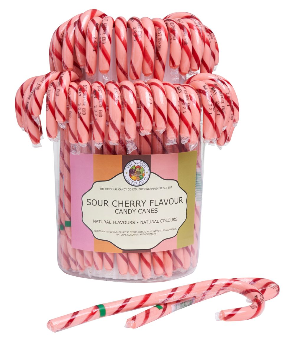 Sour Cherry Candy Canes in Drum