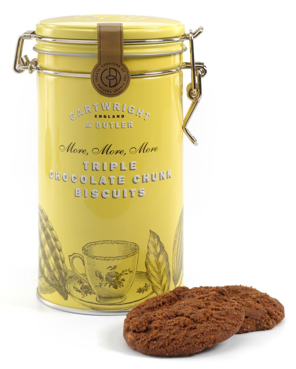 Triple Chocolate Chunk Biscuit Tin