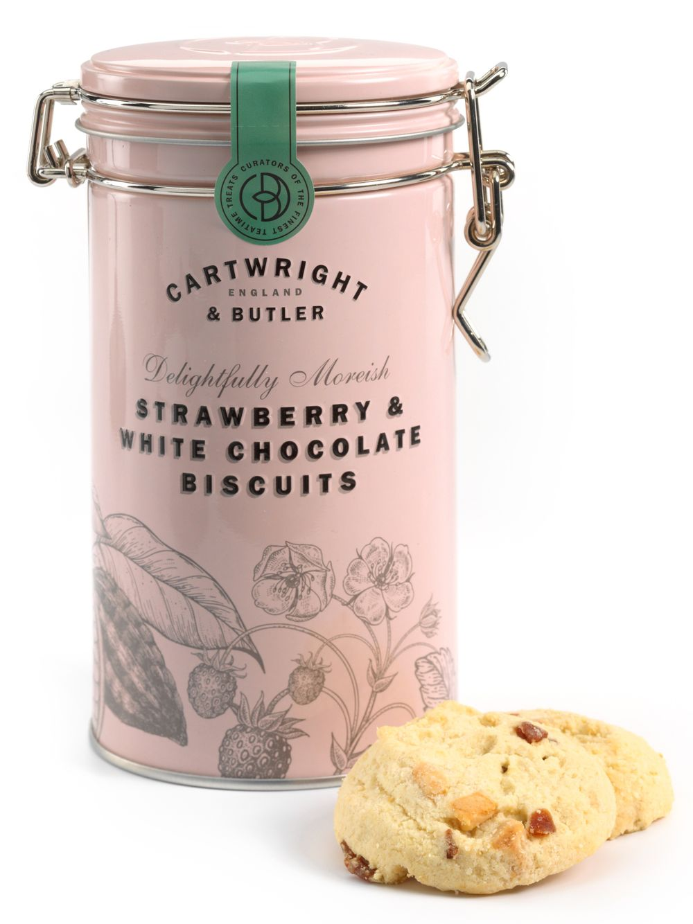 Strawberry & White Chocolate Biscuit Tin