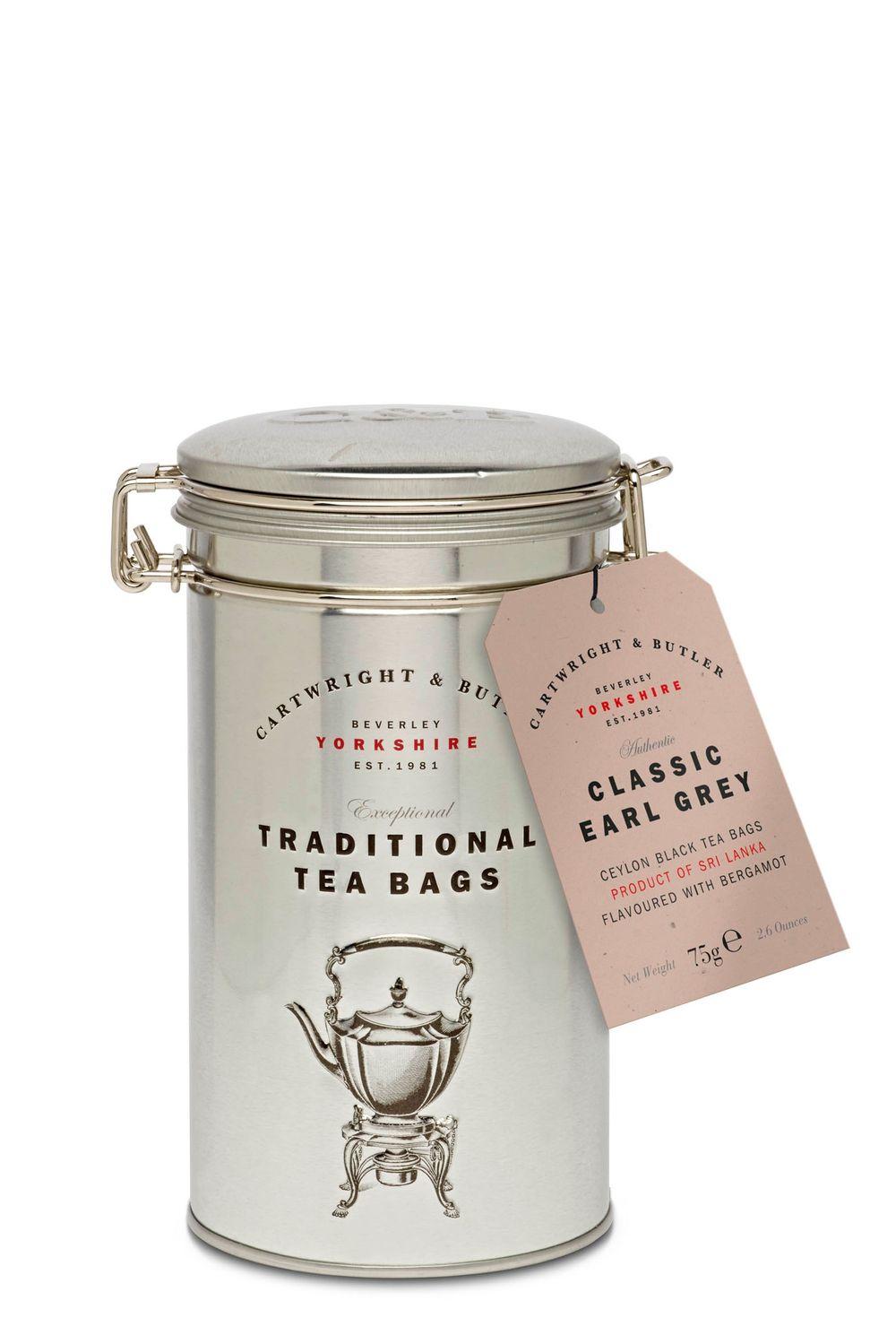 Earl Grey Tea Bags in Caddy