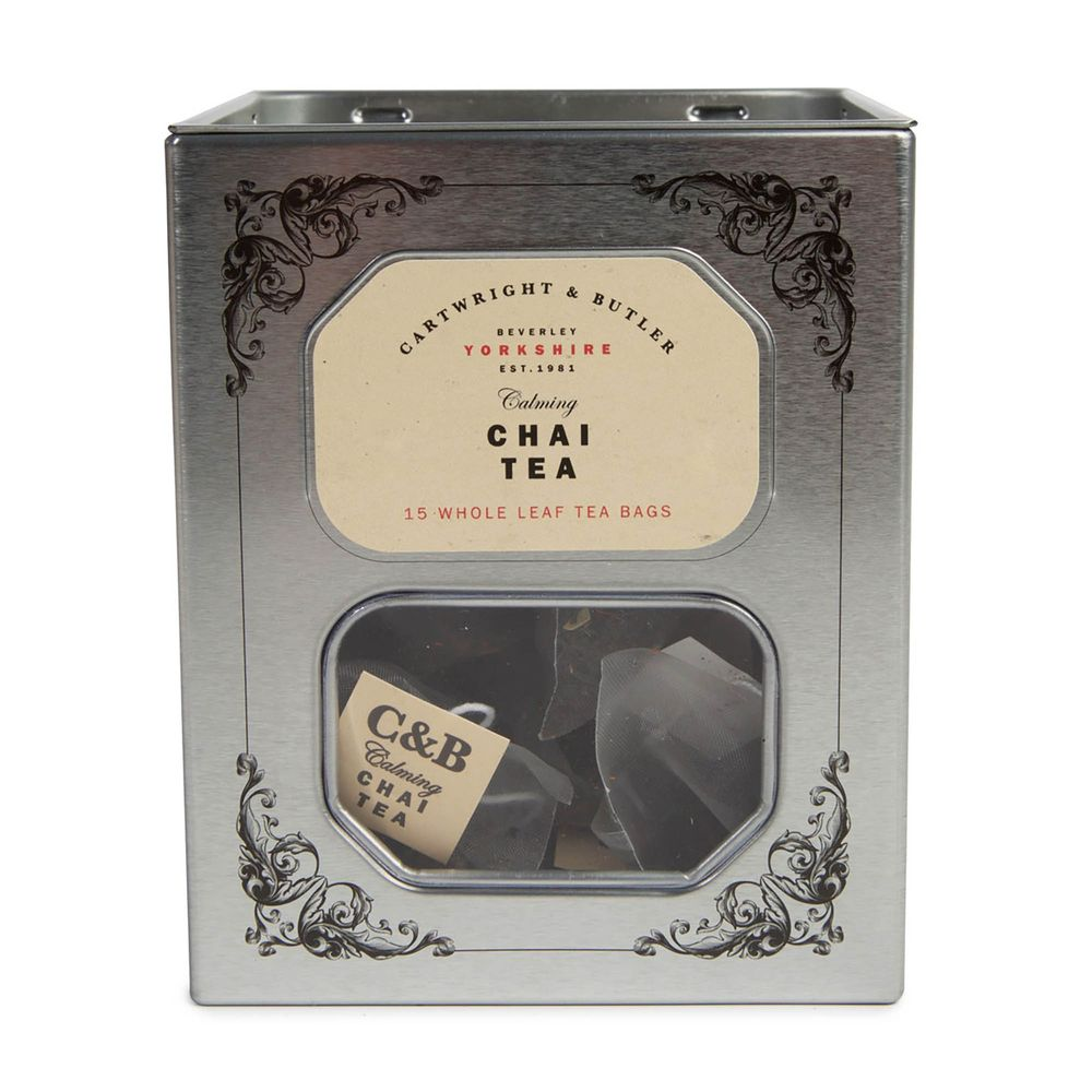 Chai Pyramid Bag Tea in Tin