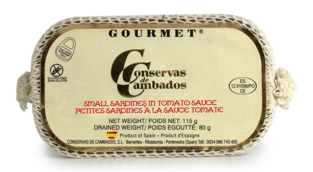 Small Sardines in Tomato Sauce