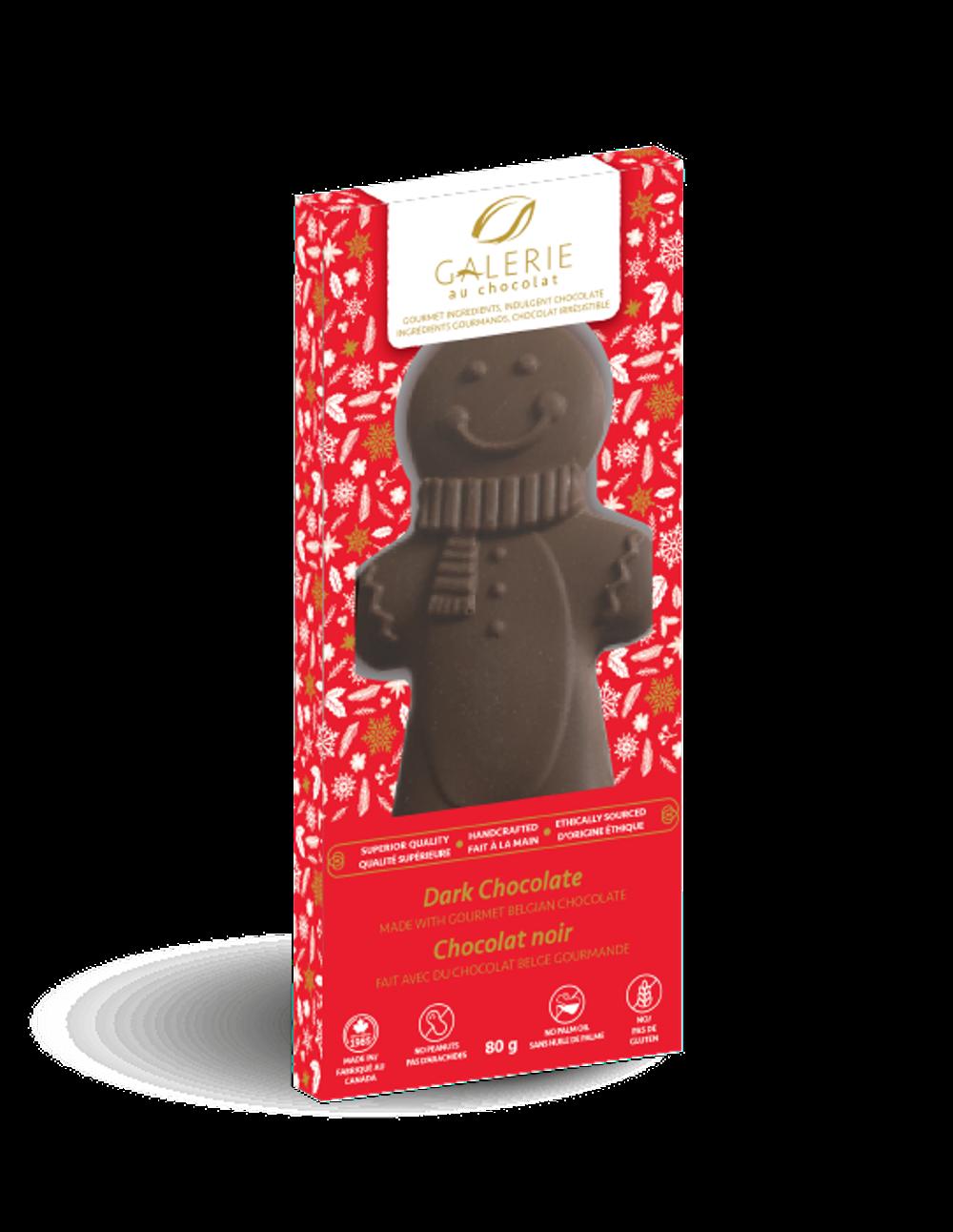 Dark Chocolate Gingerbread Man Shaped Bar