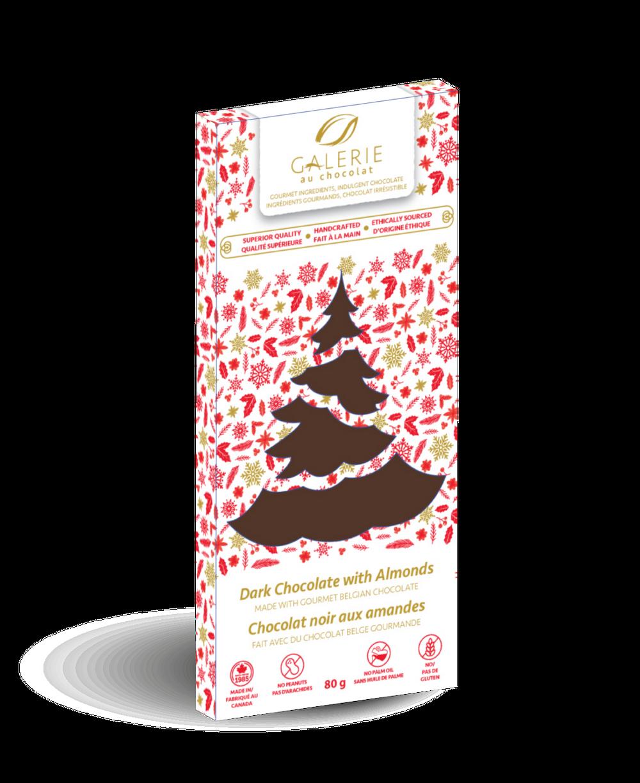 Holiday Dark Chocolate Roasted Almonds Bar
