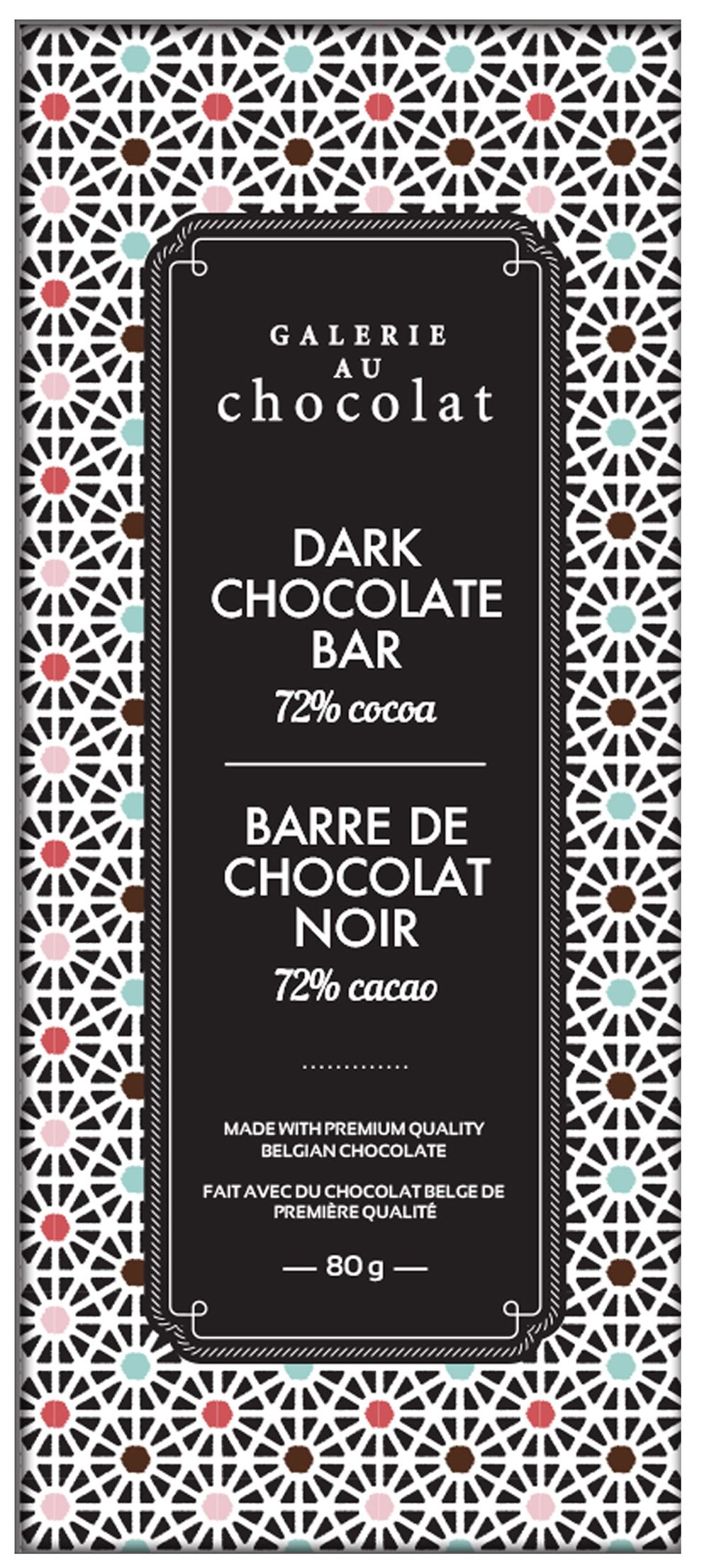 Dark Chocolate 72% Cacao Bar