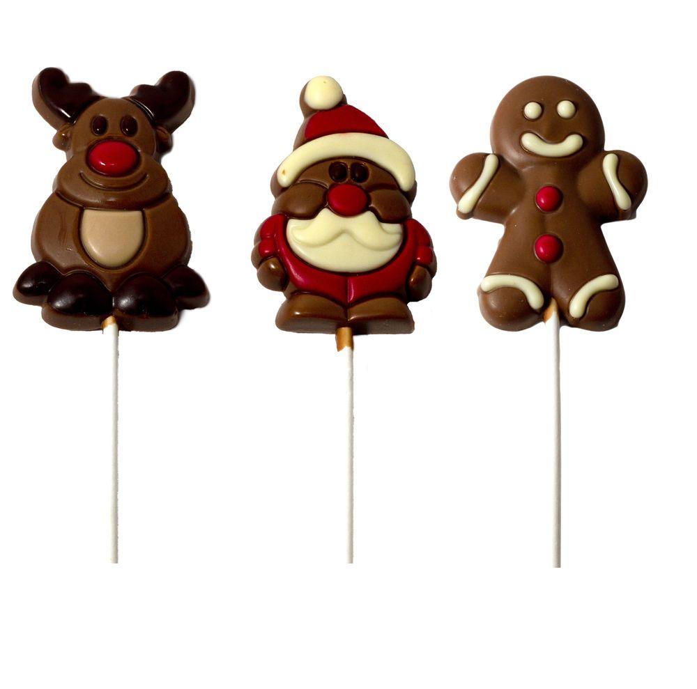 Chocolate Reindeer, Gingerbread Man and Santa Pops