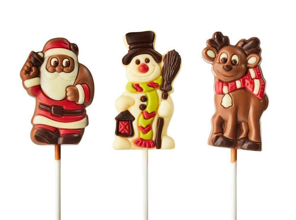 Chocolate Reindeer, Snowman and Santa Pops