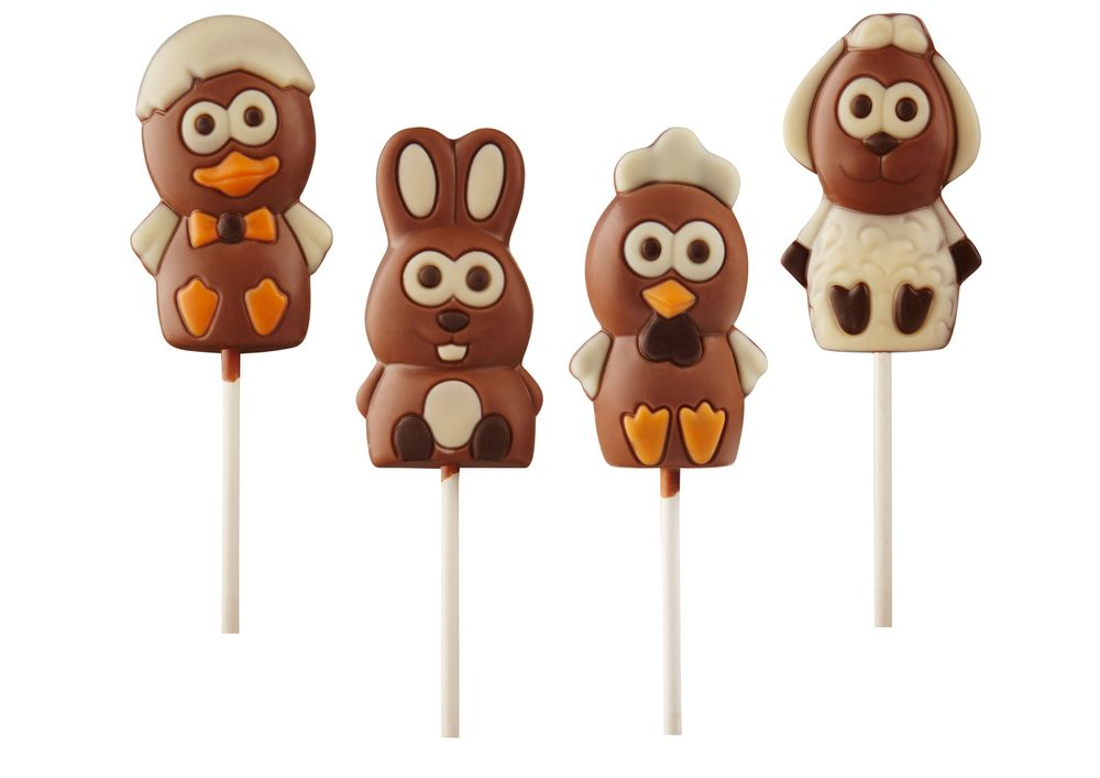 Chocolate Easter Lollipops