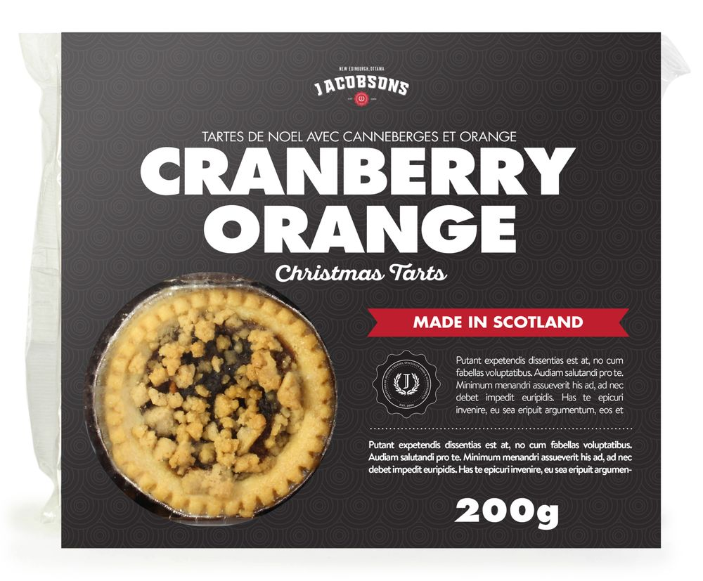 Spiced Orange & Cranberry Tarts