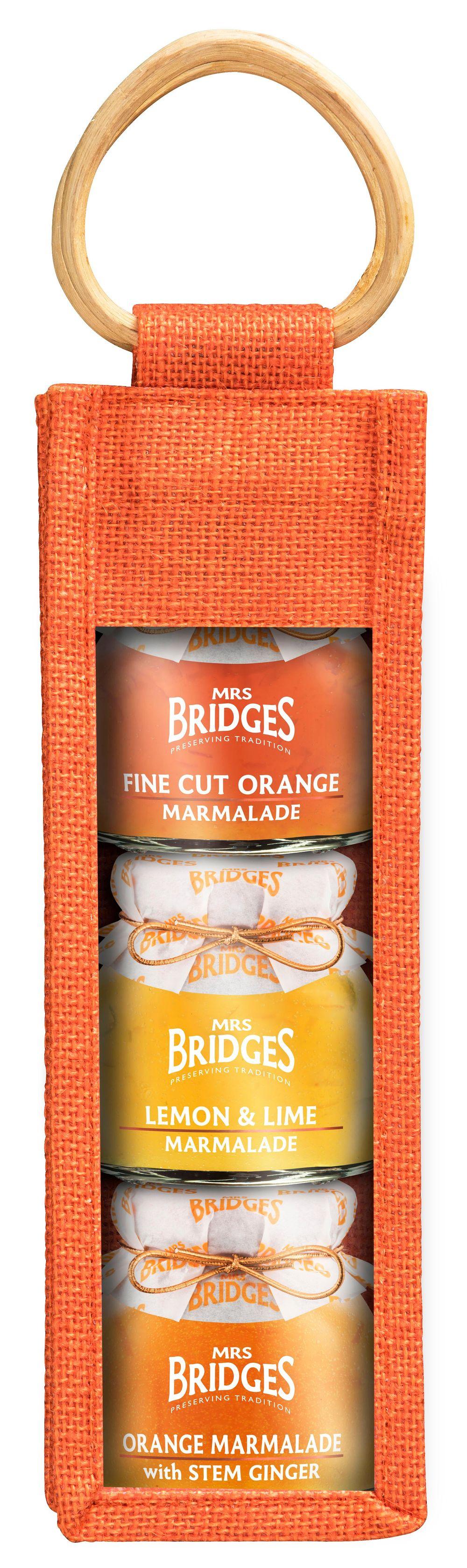 Triple Jar Jute Bag - Marmalade Collection