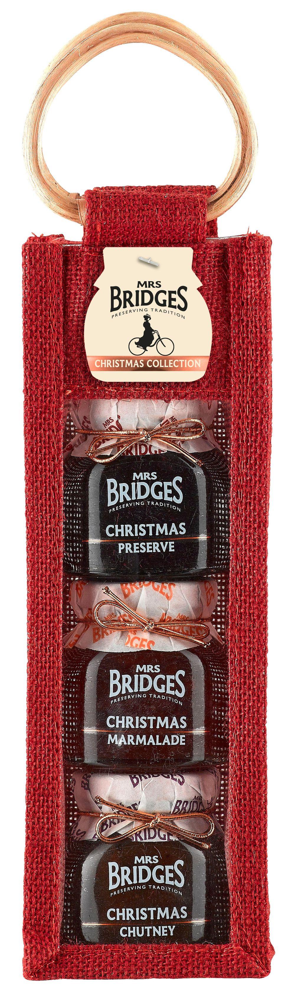 Triple Jar Jute Bag - Christmas Collection