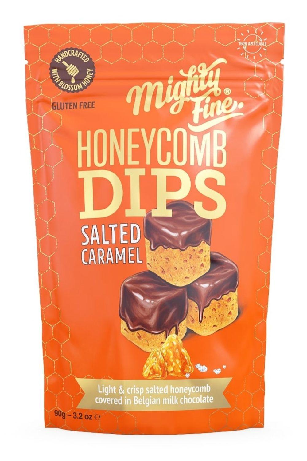 Salted Caramel Honeycomb Dips