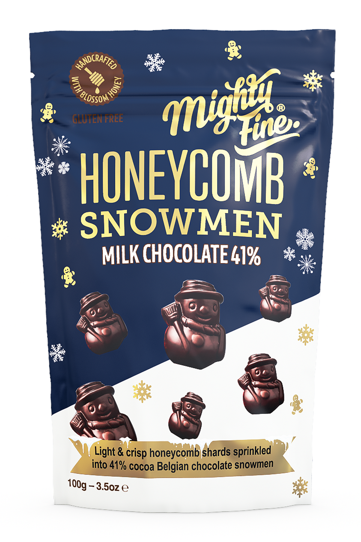 Milk Chocolate Honeycomb Snowmen