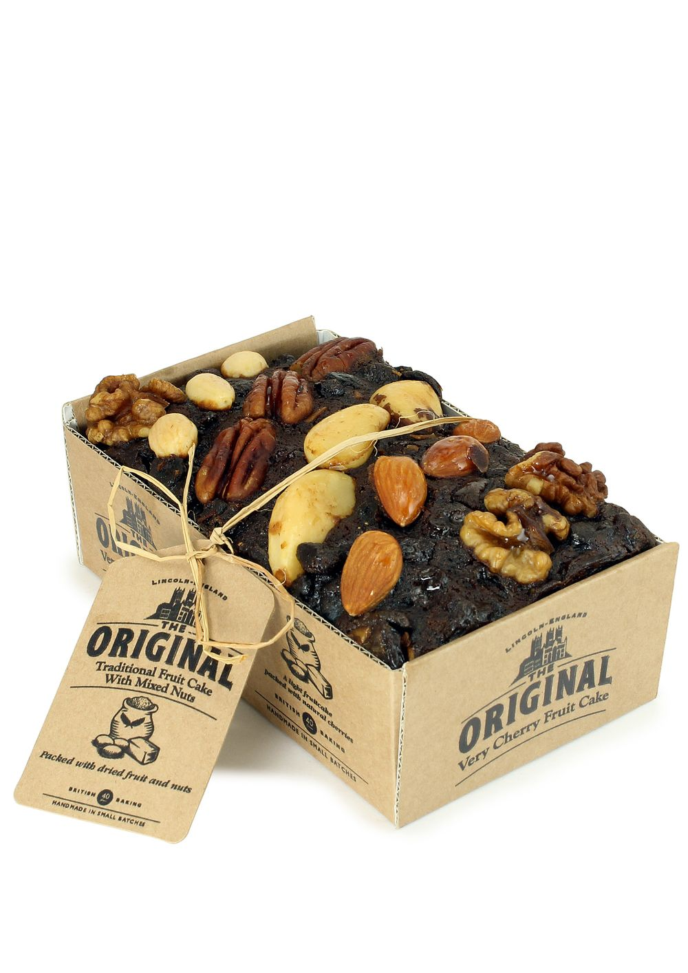Traditional Fruit Cake with Mixed Nuts
