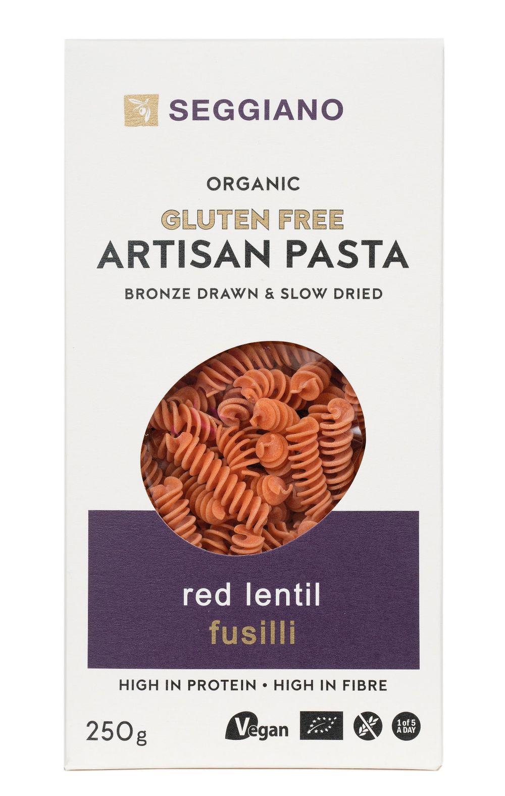 Organic Red Lentil Fusilli