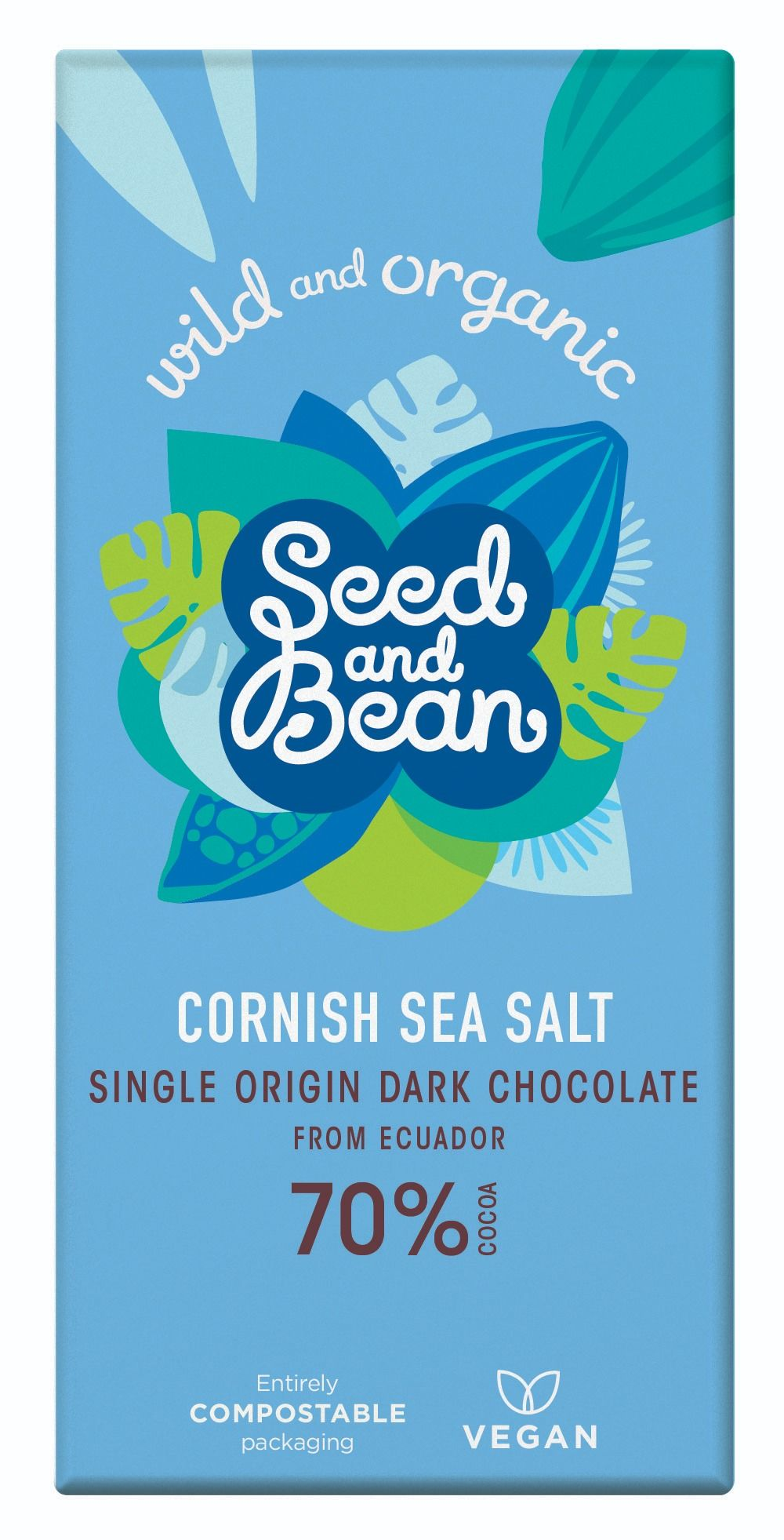 Cornish Sea Salt Extra Dark Chocolate 70% Bar