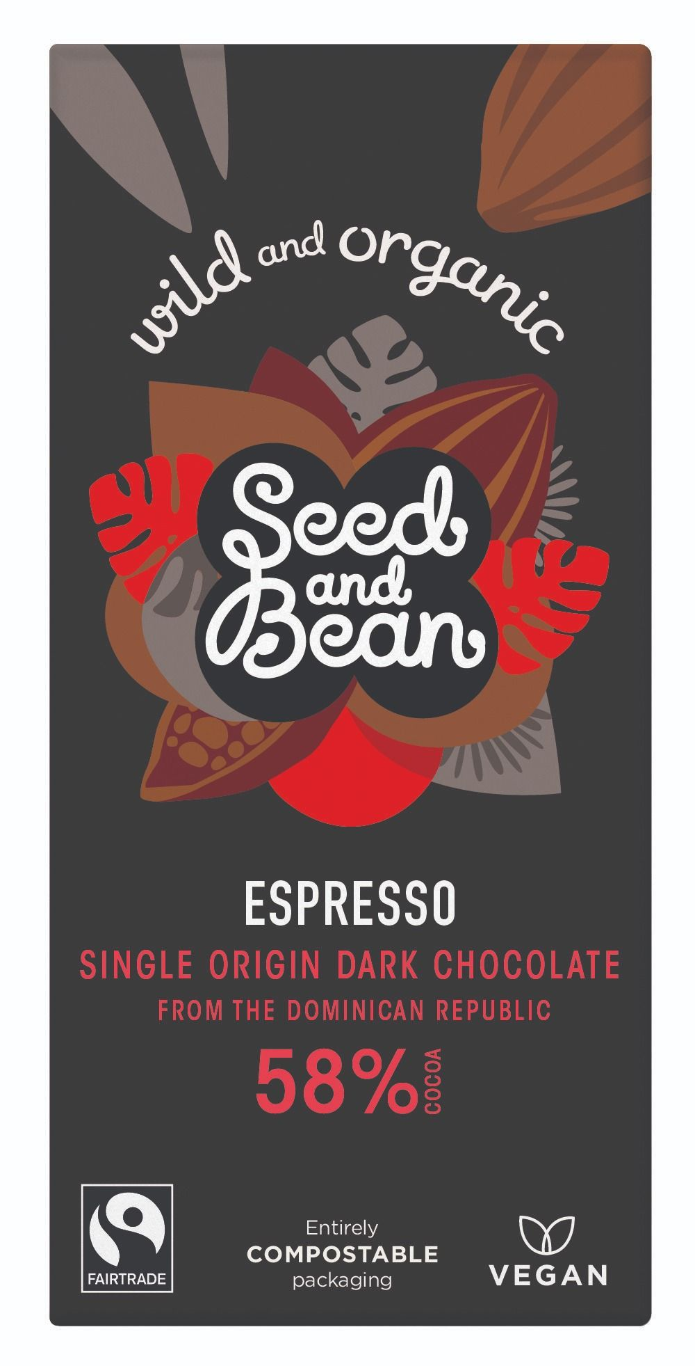 Coffee Espresso Dark Chocolate 58% Bar