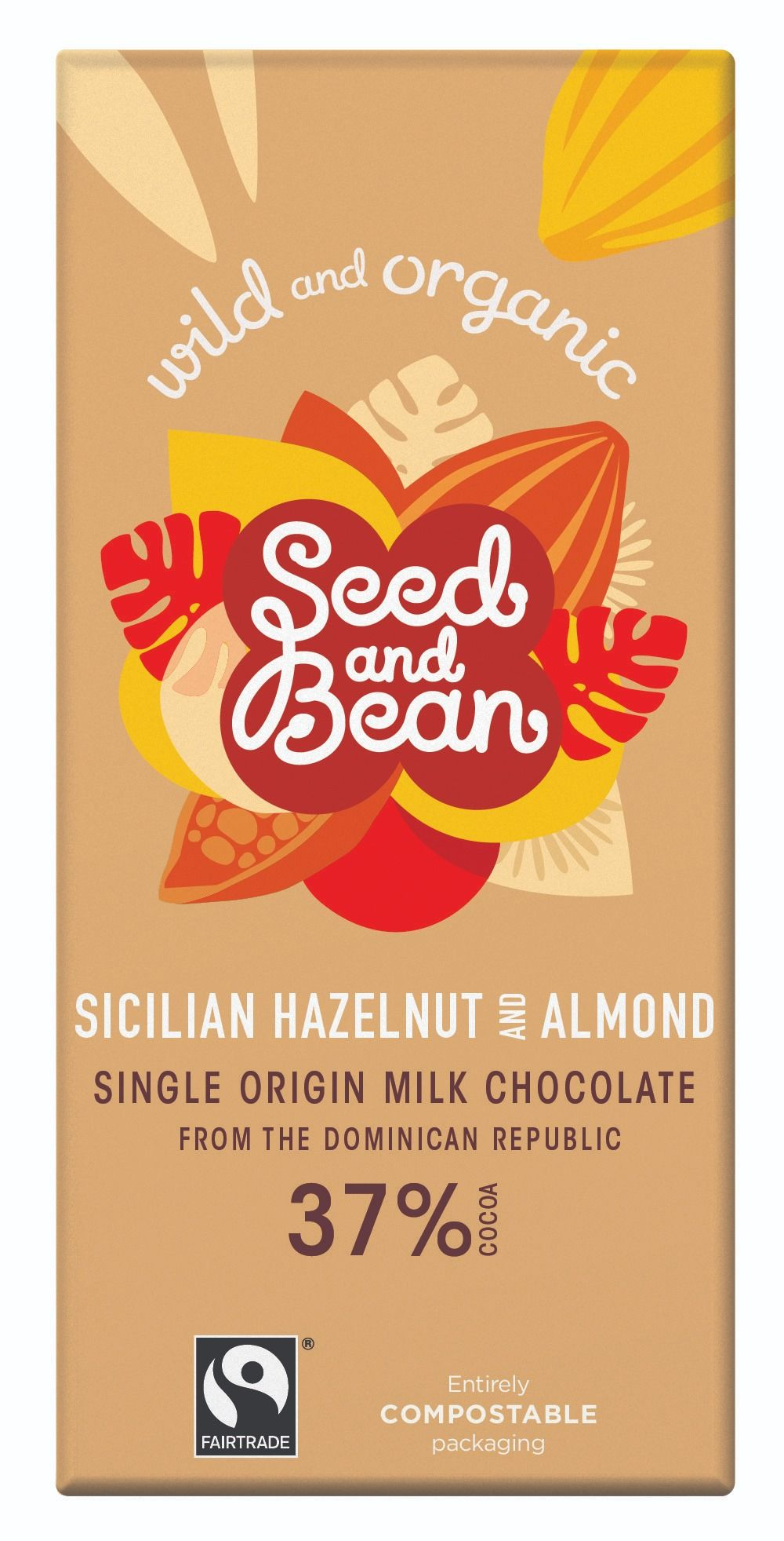 Hazelnut & Almond Milk Chocolate 37% Bar