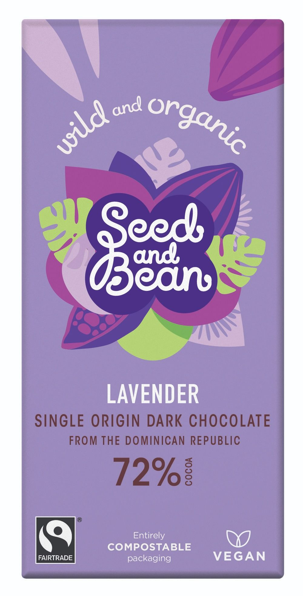 Lavender Dark Chocolate 72% Bar
