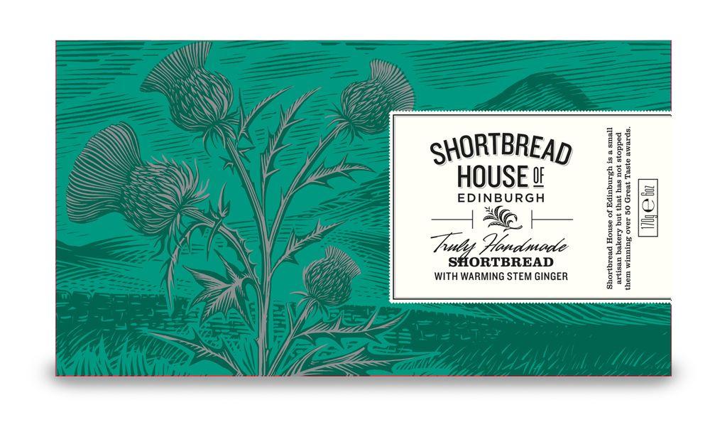 Box of Stem Ginger Shortbread Fingers