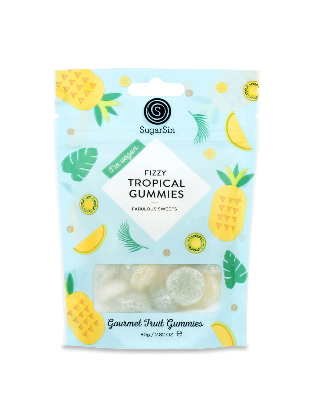 Fizzy Tropical Gummies Pouch - Vegan