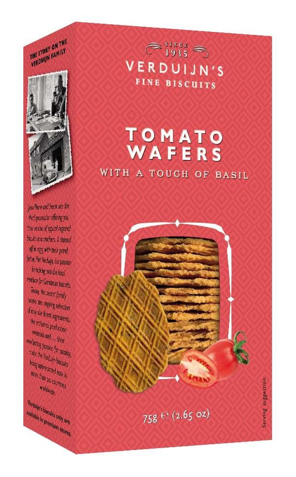 Savoury Cheese Wafers with Tomato & Basil