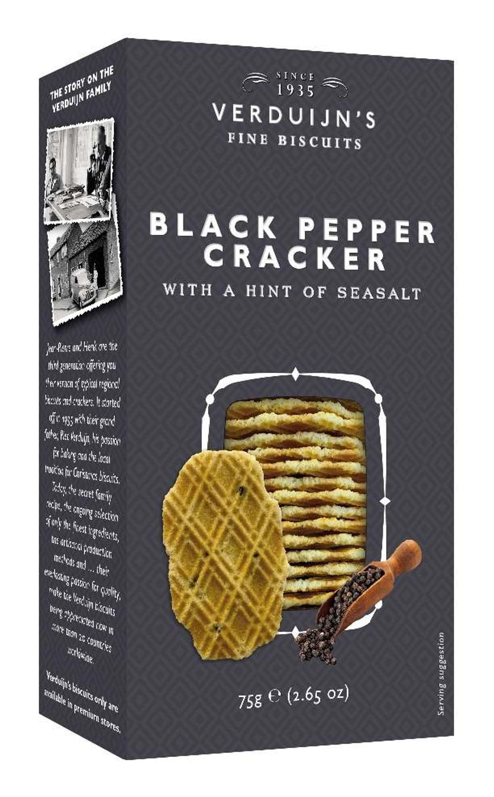 Wafers with Black Pepper
