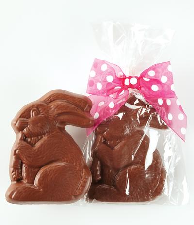 Bunny Eating Carrot - Milk Chocolate