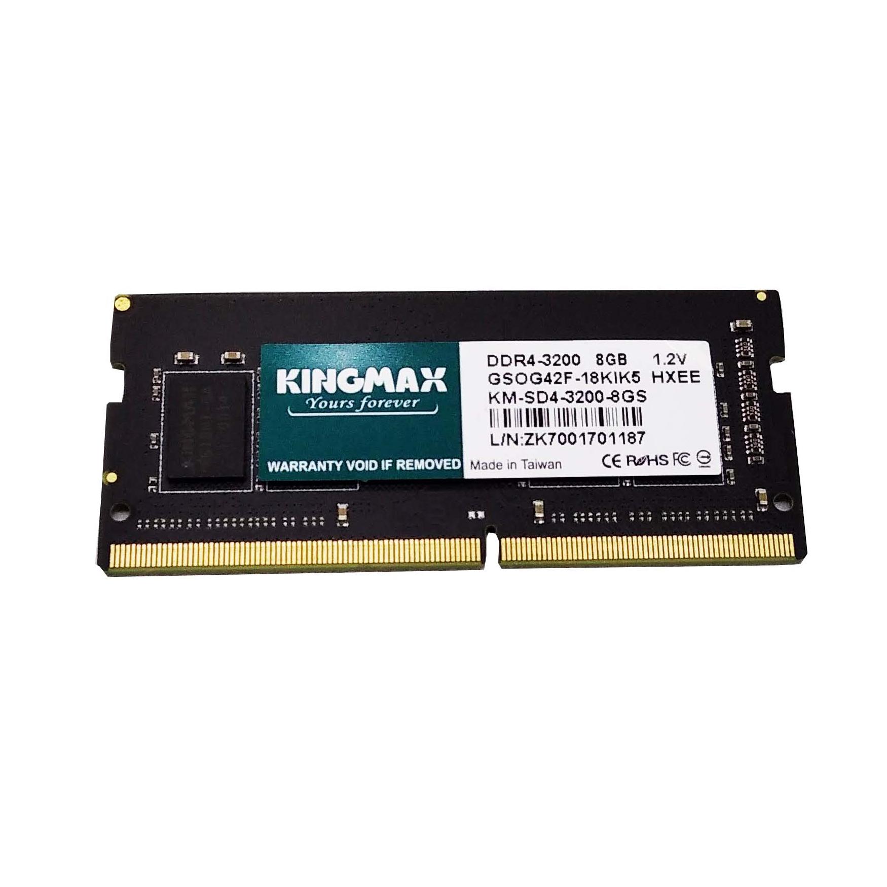 Kingmax Memory RAM 8GB DDR4 3200 SoDimm [GSOG42F-18]