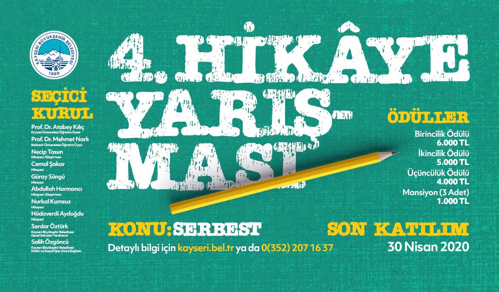 4. Kayseri Belediyesi Hikaye Yarışması