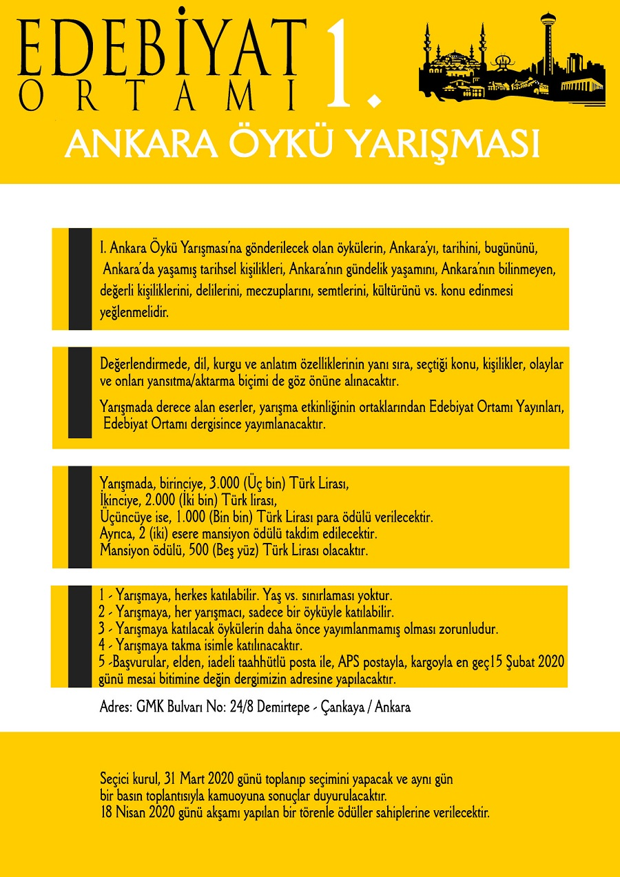 Edebiyat Ortamı Dergisi 1. Ankara Öykü Yarışması