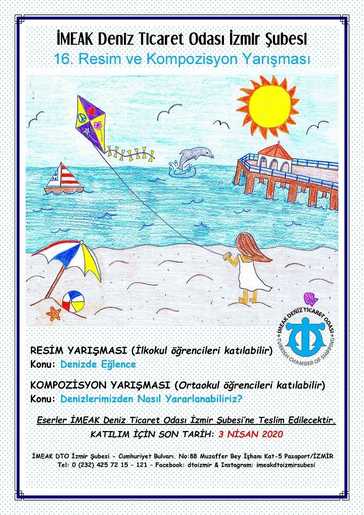 İMEAK DTO İzmir Şubesi 16. Resim ve Kompozisyon Yarışması