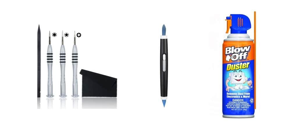 Tools needed to dedust a MacBook Pro in 2019