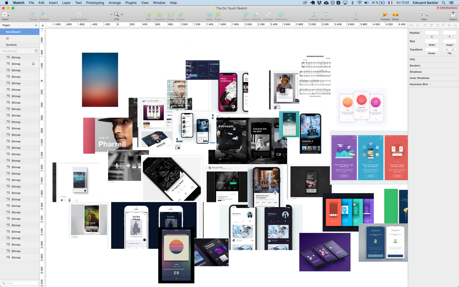 How to find inspiration when designing a new app from scratch? Create moodboards!