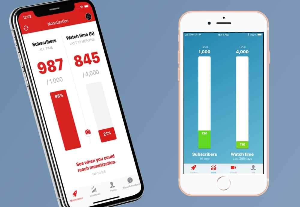 YT Tracker iOS - UI Design progress