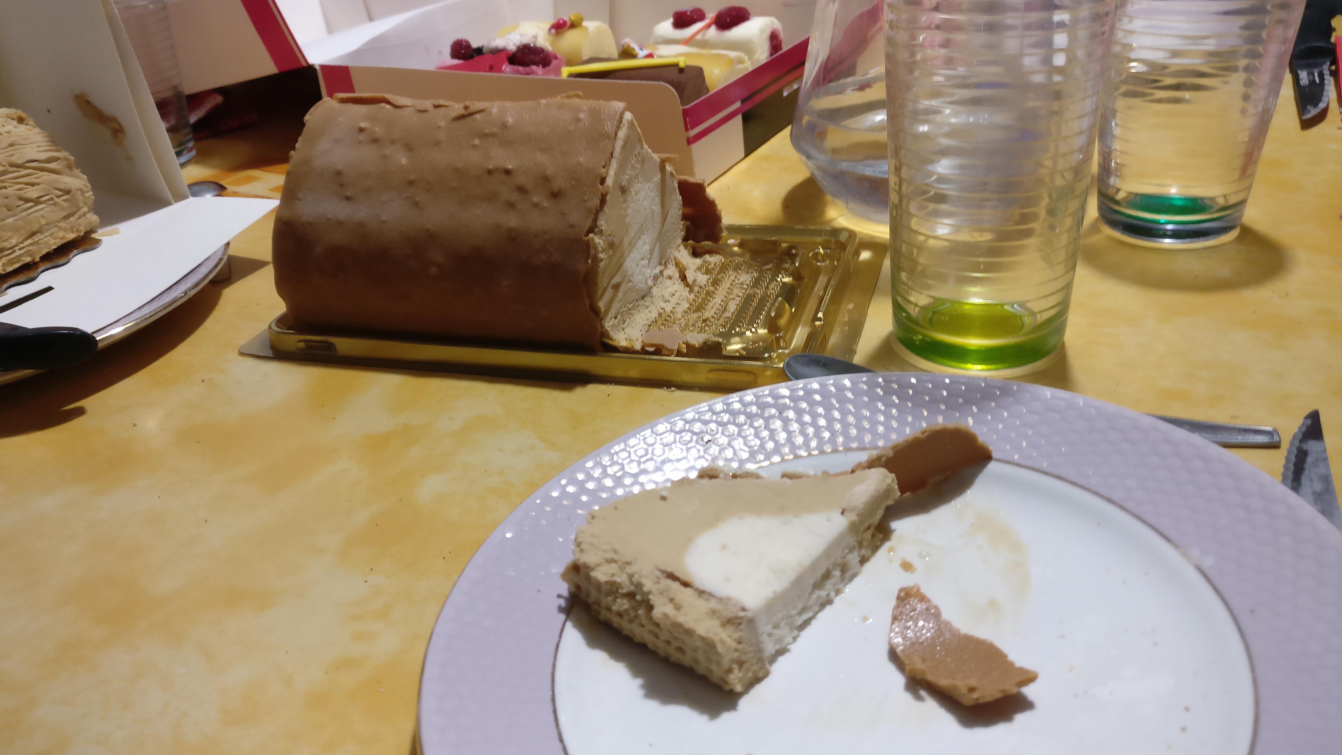 Photo du produit Bûche glacée macaron et caramel