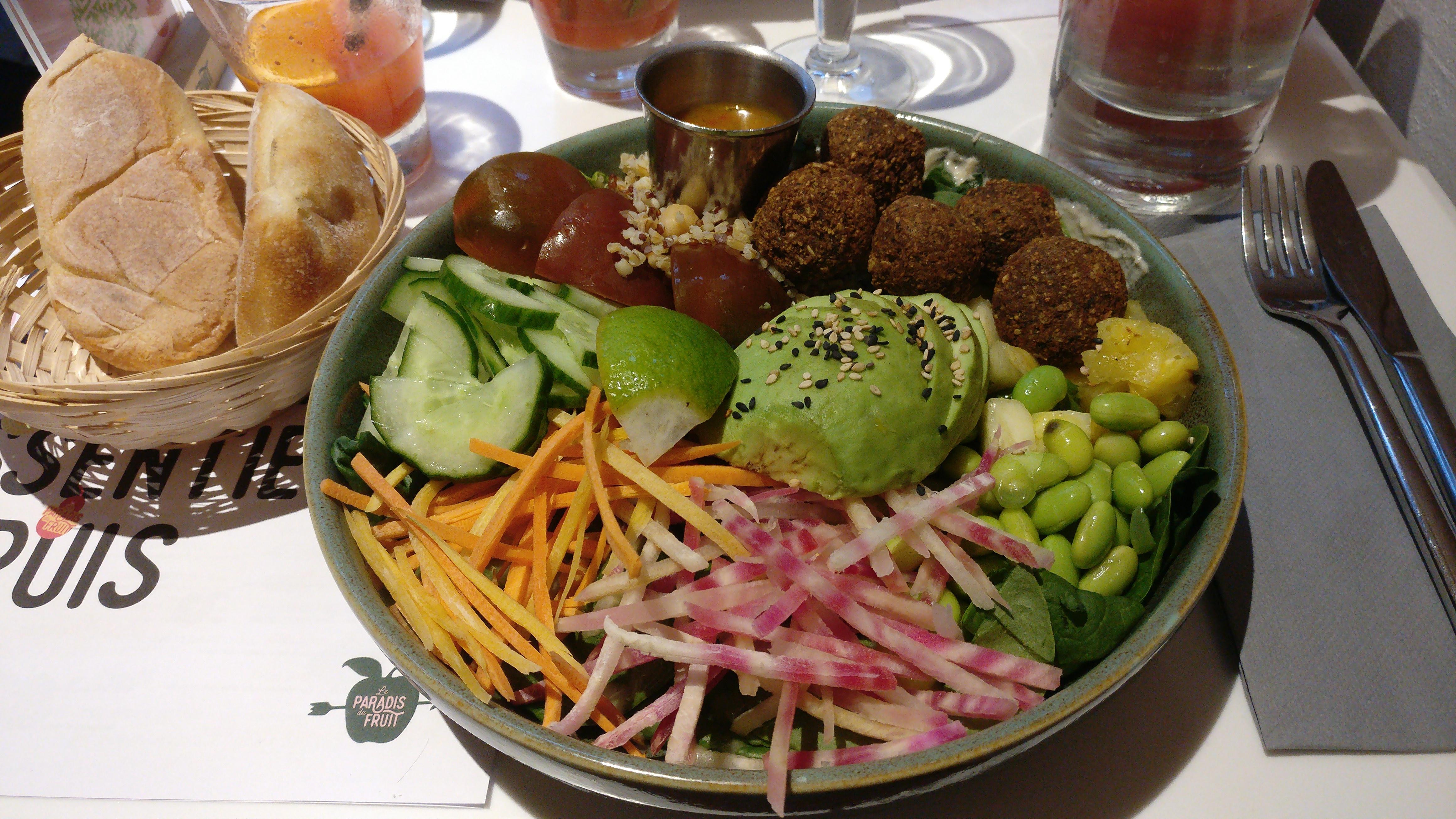 Photo du produit SUPER BOWL ÉNERGIE Falafel [Restaurant - Le Paradis du Fruit] prise par Benbb96
