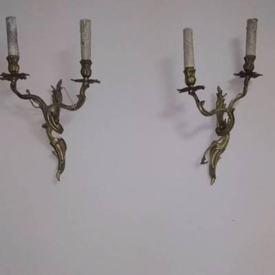 Винтажные бра.Бронза в стиле Эклектика в наличии, Голландия, конец 19 века