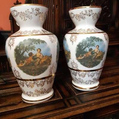 Фарфоровые вазы в стиле Необарокко Бельгия, середина 20 века